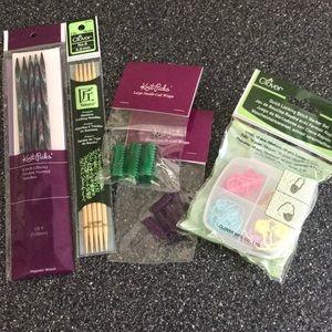 NWT knitting supplies